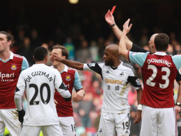 Andy Carroll Furious As West Ham Lose Red Card Appeal