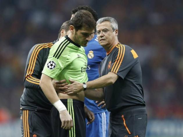 Iker Casillas injured on Real return