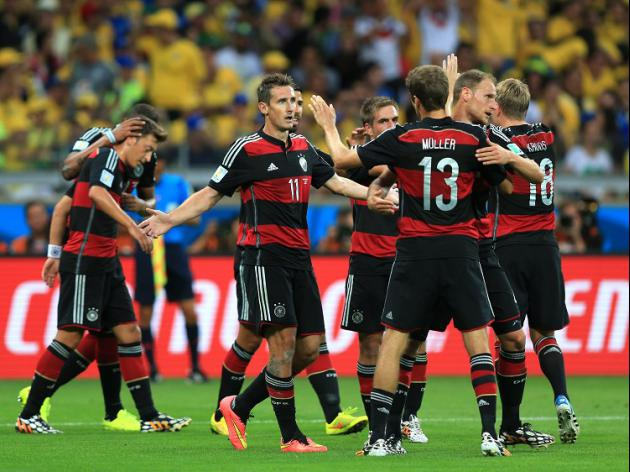 Germany obliterate hosts Brazil