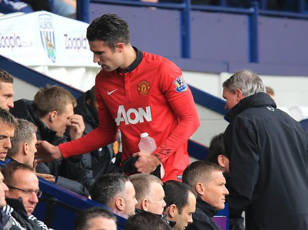 Van Persie: I'm happy at United
