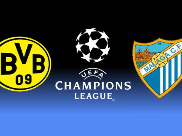 Borussia Dortmund vs Malaga: UEFA Champions League Match Preview, Team news and Line-ups