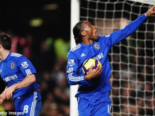 Chelsea 2 Fulham 1: Drogba and Kalou deliver victory after Africa Cup reprieve