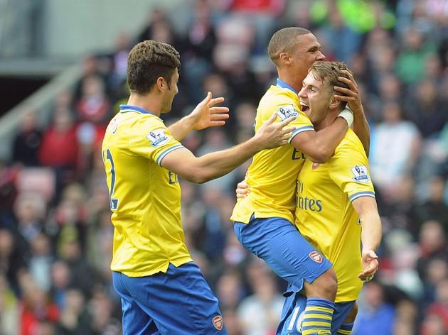 Ramsey brace sets up Arsenal victory