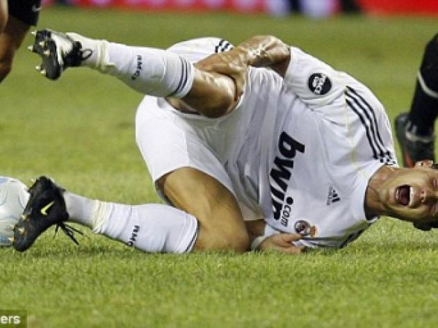 Madrid insure Cristiano Ronaldo's legs for 90million after knee injury scare