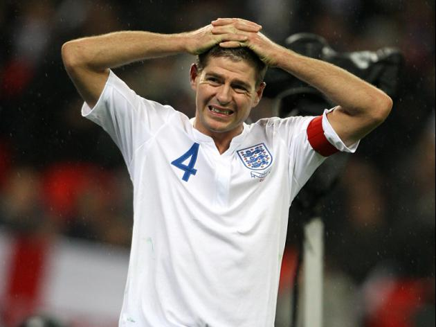 Gerrard leaves England with tears for souvenirs