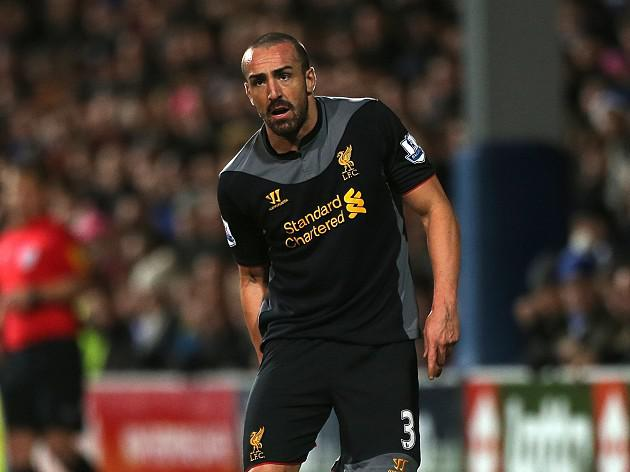 Liverpool's Jose Enrique facing six week lay off