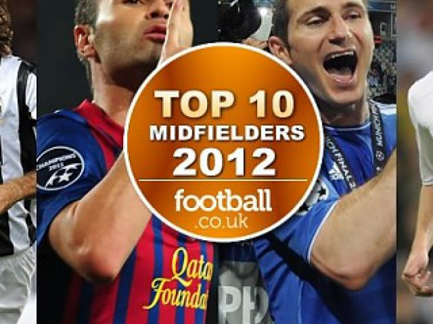 Top 10 Midfielders of 2012