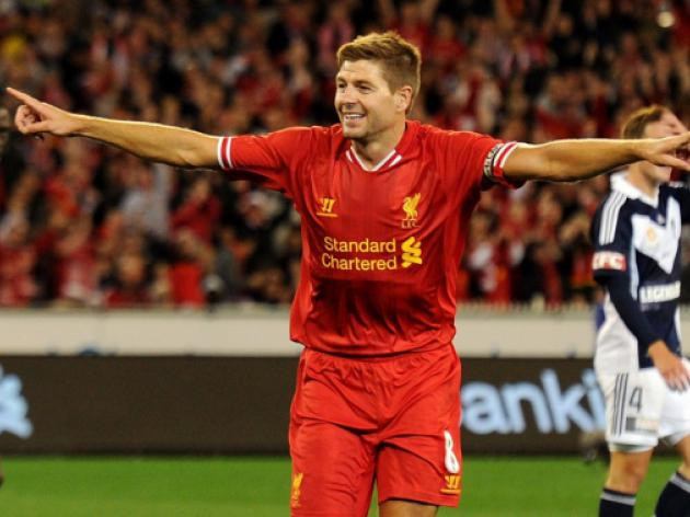 Liverpool captain Steven Gerrard delights huge Aussie crowd with goal