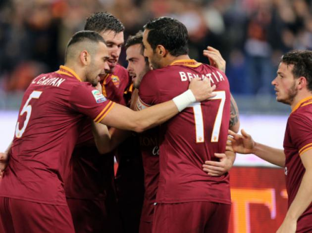 Roma's young guns down Sampdoria to reduce Juve gap