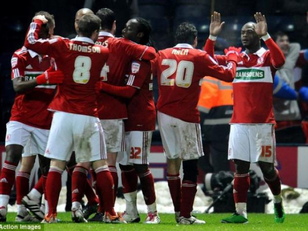 Preston 1 Middlesbrough 3: Leroy Lita double heaps pressure on Darren Ferguson