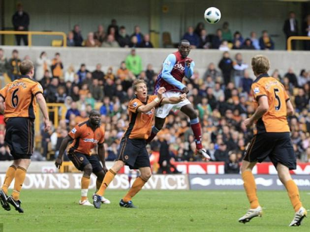 Wolves 1 Aston Villa 2: Emile Heskey heads superb late winner for Villa