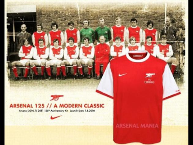 PICTURE SPECIAL: Will Arsenal's new kit be a nod to 125 years of glory?
