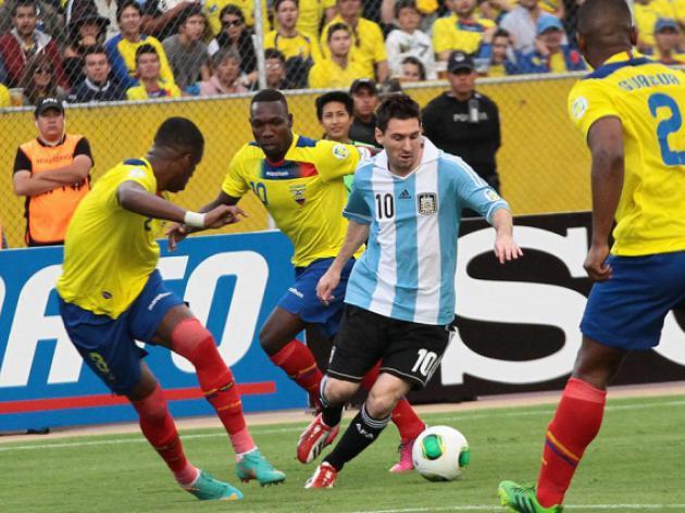 Argentina held by Ecuador, Colombia edge closer
