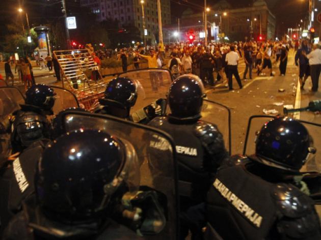 Croatian defeat sparks violence in Bosnia