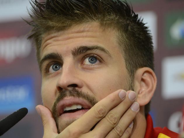 Pique denies spat with Ramos