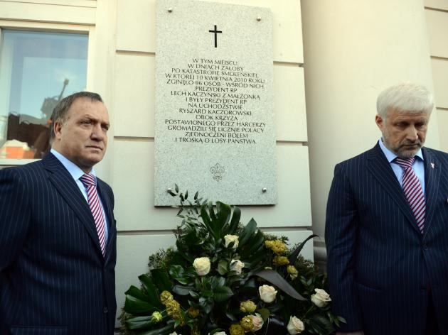 Russian delegation honours Poland's late president