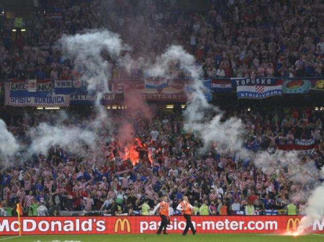Croatia in dock for fans' flares, smoke bombs