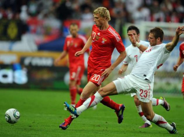Pogrebnyak strike gives Russia win over Serbia