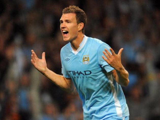 City boss Mancini receives apology -- from Dzeko