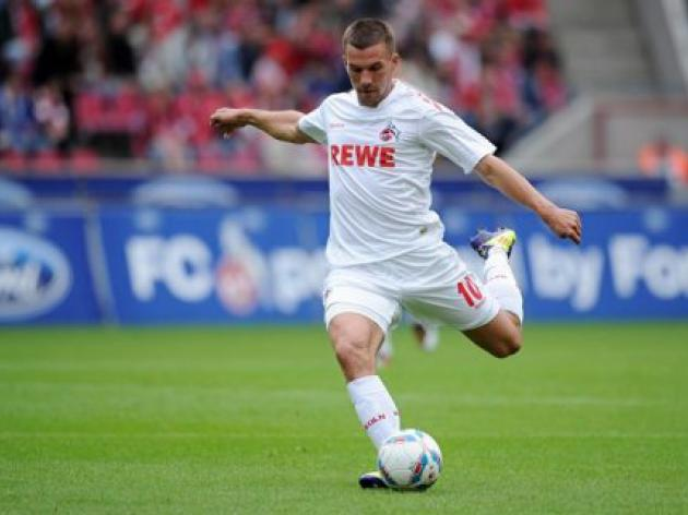 Podolski in form as Cologne hammer Augsburg