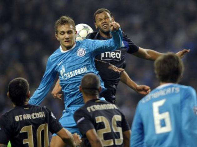 Zenit through to last 16 as Porto disappoint