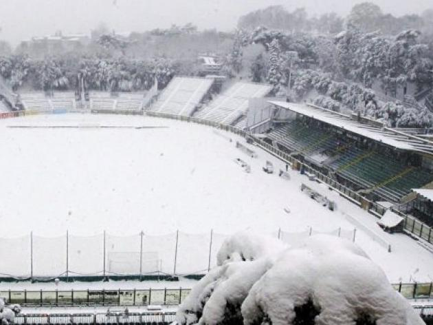 Snow hits Italian league games