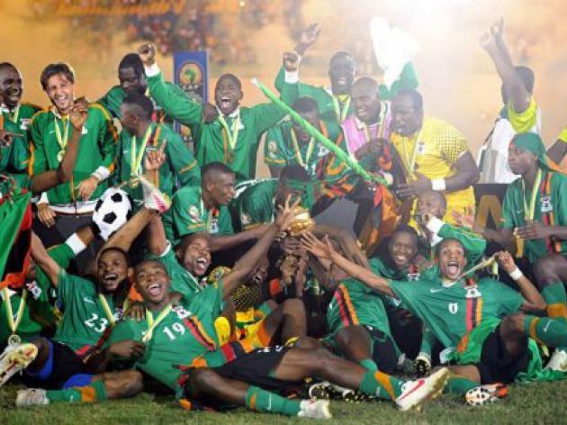 Zambia celebrate historic win with street parties