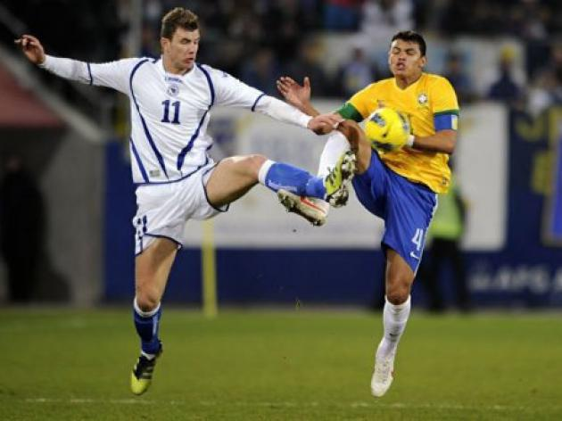 Brazil down Bosnia in friendly after own goal