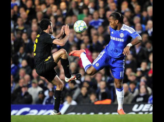 Drogba gives Chelsea edge over Barcelona