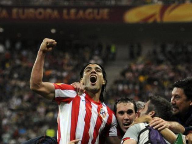Falcao fires Atletico Madrid to Europa League glory