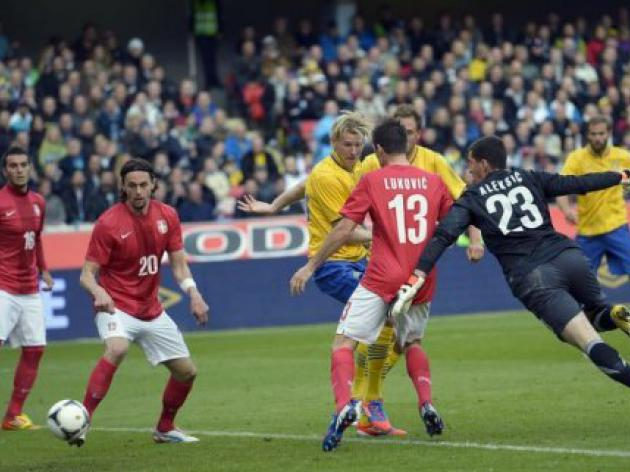 Sweden clinches pre-Euro friendly win over Serbia