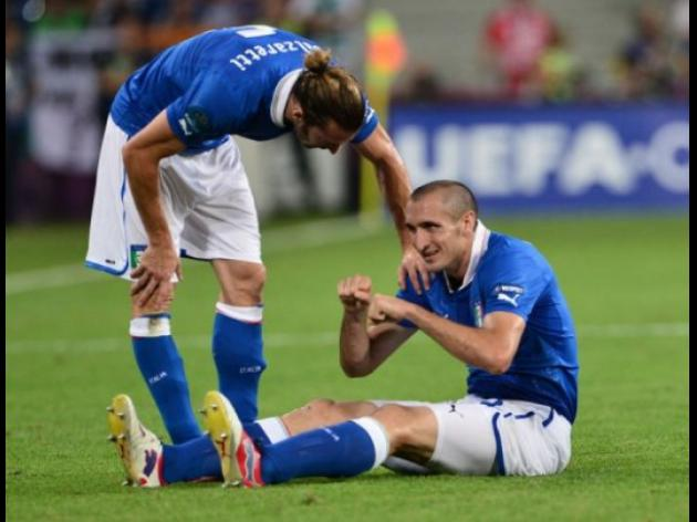 Chiellini out of England quarter-final