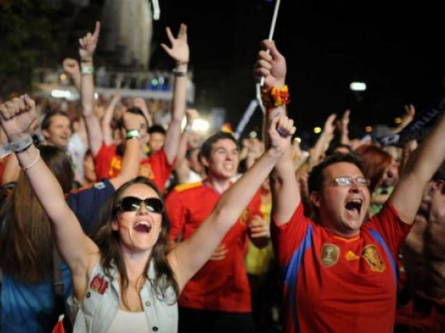Joy in Madrid, as Spain reach Euro 2012 final