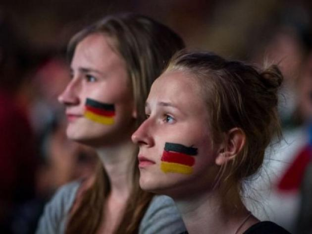 German fans stunned at Italian loss
