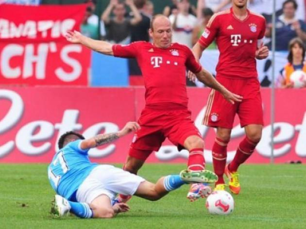 Bayern beaten by Napoli in pre-season friendly