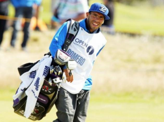 Tevez flops as Open Golf caddy