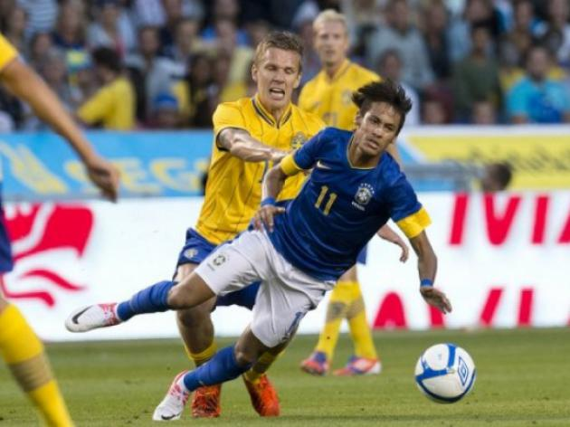 Pato helps Brazil breeze past Sweden