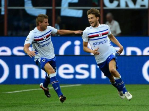 Sampdoria stun Milan at San Siro