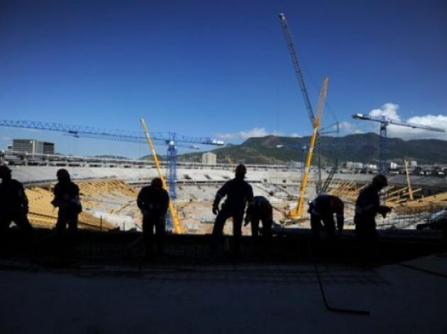 Half of Brazil World Cup stadiums half done