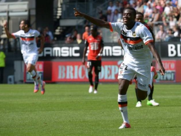 Traore thunderbolts send nine-man Lorient second