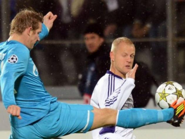 Zenit not at their peak in first Champions League win