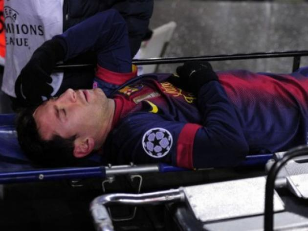 No record as Messi departs injured