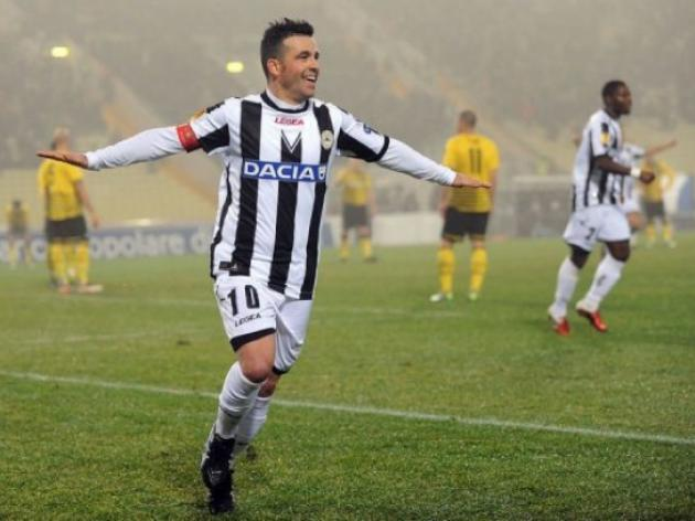 Di Natale snatches late leveller for Udinese