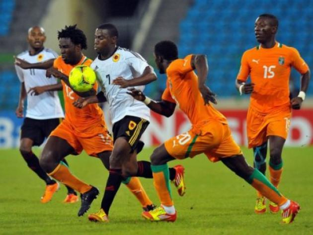 Angola held by 10-man Gambia in Africa Cup warm-up