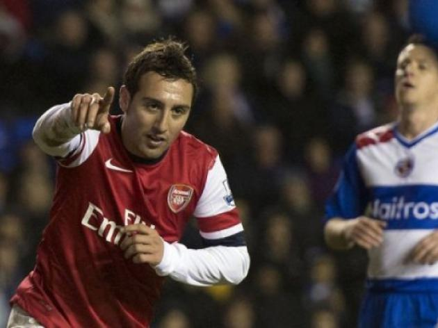 Cazorla treble lifts Arsenal gloom in Reading rout