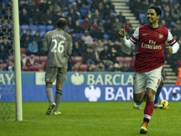 Arsenal back on track as Arteta sinks Wigan