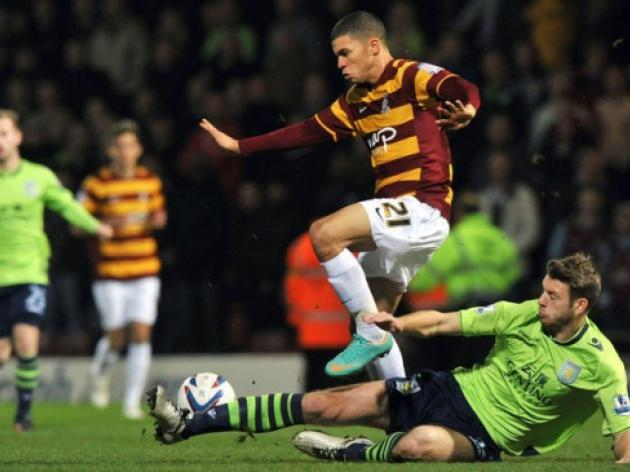 Bradford stun Villa to close on League Cup final