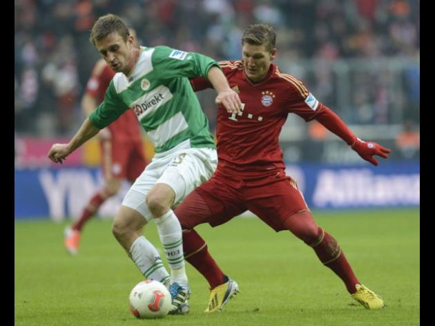 Bayern Munich resume the season with a 2-0 win over Greuther Fuerth.