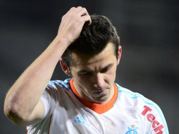 First red card for Barton in Marseille colours