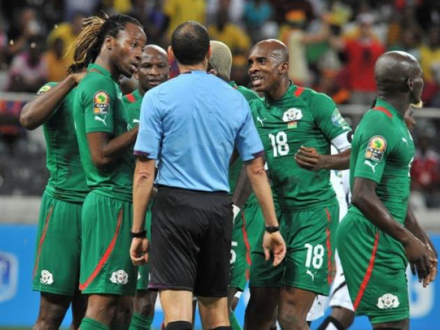 Africa Cup of Nations ref suspended in Pitroipa row